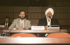 Dr Harbhajan Singh giving his address to the audience of the Plenary Session